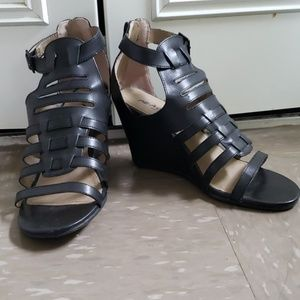 Wedged gladiator heels